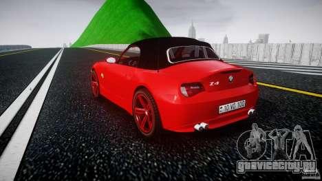 BMW Z4 Roadster 2007 i3.0 Final для GTA 4 вид сзади слева