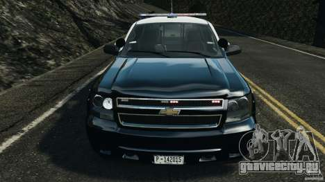 Chevrolet Tahoe Marked Unit [ELS] для GTA 4 вид изнутри