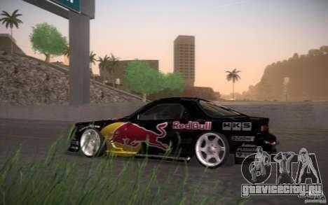 Mazda RX7 Madmikes Redbull для GTA San Andreas вид сзади слева