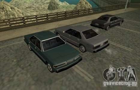 New Sentinel для GTA San Andreas вид сзади слева