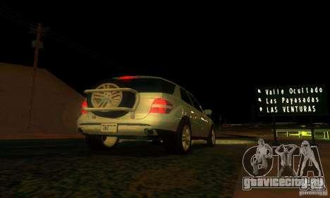 Mercedes-Benz ML500 для GTA San Andreas вид сверху