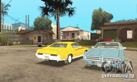 Pontiac GTO The Judge для GTA San Andreas вид изнутри