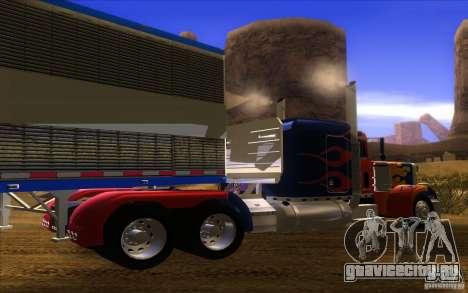 Truck Optimus Prime v2.0 для GTA San Andreas вид справа