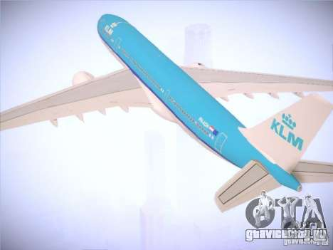 Airbus A330-200 KLM Royal Dutch Airlines для GTA San Andreas вид сверху