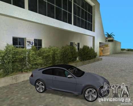 BMW M6 для GTA Vice City вид справа
