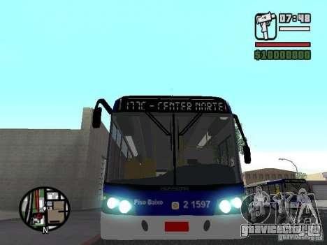 Busscar Urbanuss Ecoss MB 0500U Sambaiba для GTA San Andreas вид сбоку