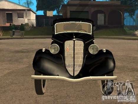 ГАЗ М1 для GTA San Andreas вид сзади