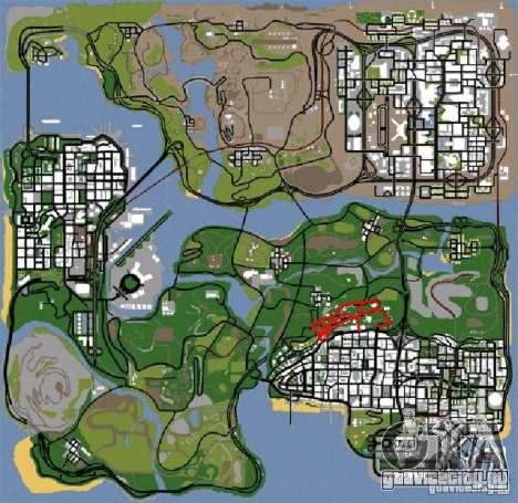 Новые дороги в Vinewoode (Los Santos) для GTA San Andreas четвёртый скриншот