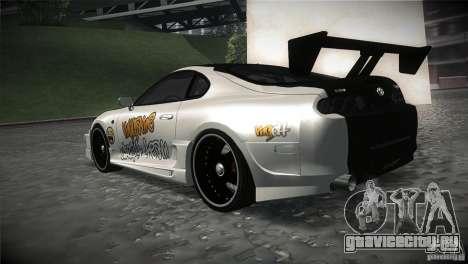 Toyota Supra MyGame Drift Team для GTA San Andreas вид сзади слева