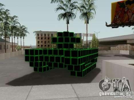 Pixel Tank для GTA San Andreas вид справа