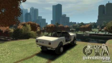 Ford Mustang Sandroadster 1.0 для GTA 4 вид сзади слева