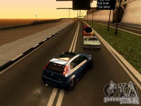 Fiat Punto Multijet для GTA San Andreas вид сзади слева