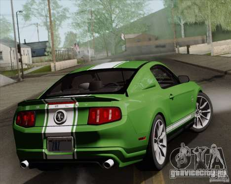 Ford Shelby GT500 Super Snake 2011 для GTA San Andreas вид изнутри