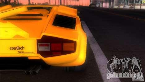 Lamborghini Countach для GTA Vice City вид сзади