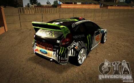 Ford Fiesta Gymkhana Four для GTA San Andreas вид справа
