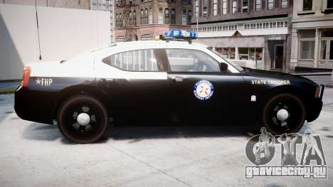 Dodge Charger Florida Highway Patrol [ELS] для GTA 4 вид слева