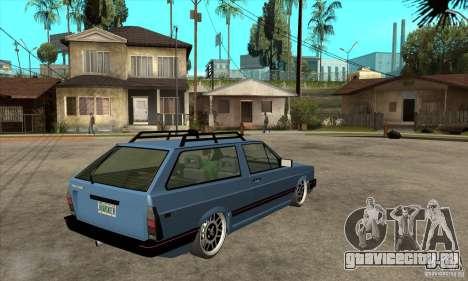 VW Fox 1989 v.2.0 для GTA San Andreas вид справа