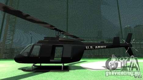 Black U.S. ARMY Helicopter v0.2 для GTA 4 вид сзади слева
