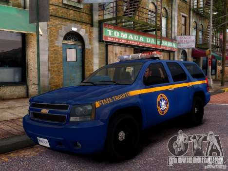 Chevrolet Tahoe New York Police для GTA 4 вид сбоку