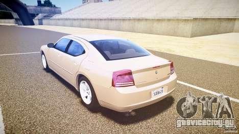 Dodge Charger RT Hemi 2007 Wh 1 для GTA 4 вид сзади слева