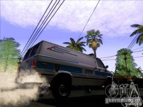 Chevrolet VAN G20 NYPD SWAT для GTA San Andreas вид сзади