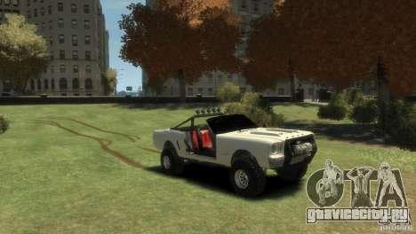 Ford Mustang Sandroadster 1.0 для GTA 4 вид справа