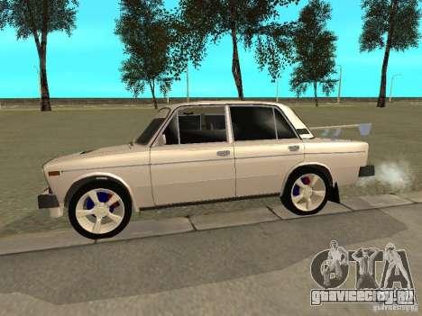 ВАЗ 2106 West Style для GTA San Andreas вид сзади слева