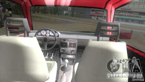 Fiat Uno Turbo для GTA Vice City вид справа
