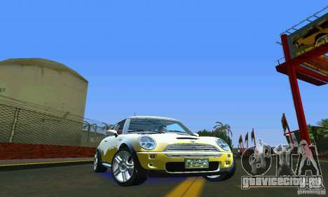Mini Cooper S для GTA Vice City вид справа