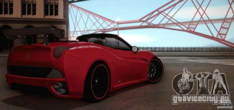 Ferrari California для GTA San Andreas вид сверху