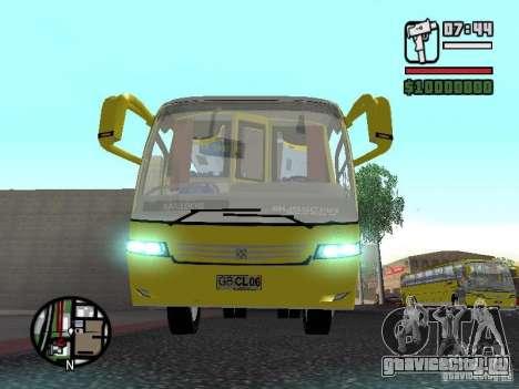 Busscar Vissta Bus для GTA San Andreas вид изнутри