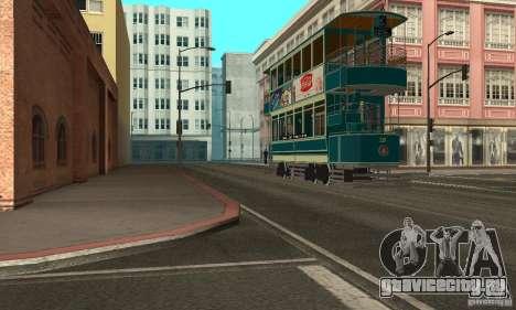 Double Decker Tram для GTA San Andreas вид слева