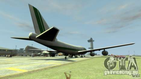 Alitalia для GTA 4 вид сзади слева