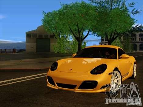 Porsche Cayman R 987 2011 V1.0 для GTA San Andreas вид сзади слева