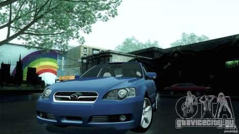 Subaru Legacy B4 3.0R specB для GTA San Andreas вид сзади слева