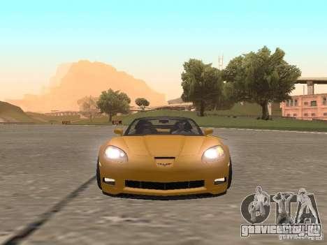 Chevrolet Corvette Z06 для GTA San Andreas вид сзади