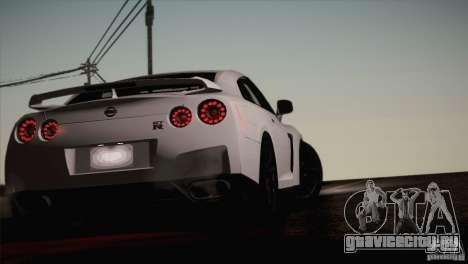 Nissan GTR Black Edition для GTA San Andreas вид изнутри