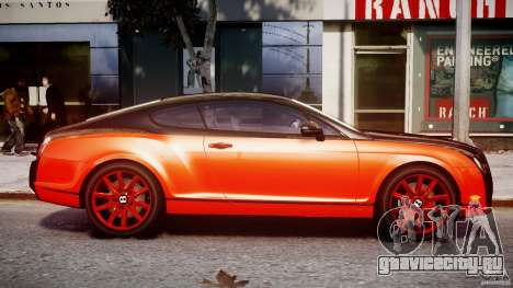 Bentley Continental SS 2010 Le Mansory [EPM] для GTA 4 вид изнутри