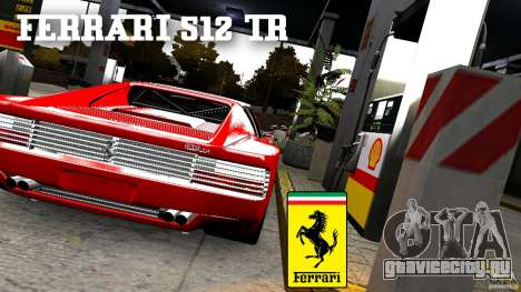Ferrari 512 TR BBS для GTA 4 вид сзади слева