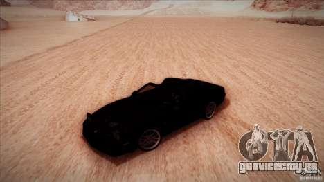 Pontiac Firebird Trans Am для GTA San Andreas вид изнутри