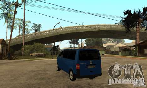 VW Transporter T5 2.5 TDI long для GTA San Andreas