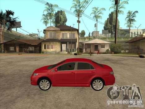 Toyota Corolla 2008 для GTA San Andreas вид слева