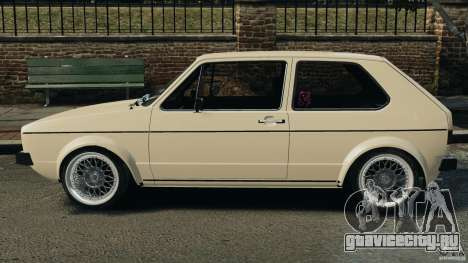 Volkswagen Golf Mk1 Stance для GTA 4 вид слева