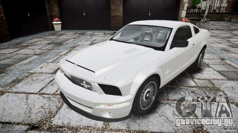 Ford Shelby GT500 для GTA 4 вид сзади