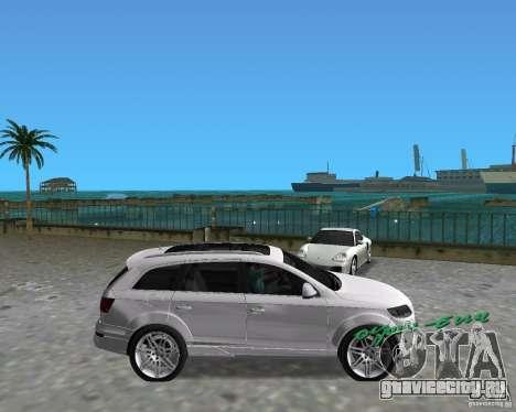 Audi Q7 v12 для GTA Vice City вид справа