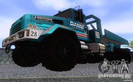 КрАЗ 7140H6 Триал для GTA San Andreas вид изнутри