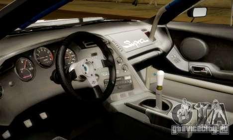 Toyota Supra JZA80 RZ Dragster для GTA San Andreas вид сверху