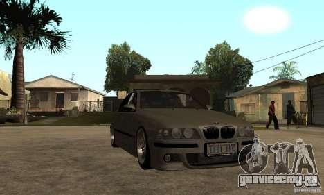 BMW E39 M5 Sedan для GTA San Andreas вид сзади