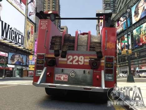 Fire Truck FDNY для GTA 4 вид справа