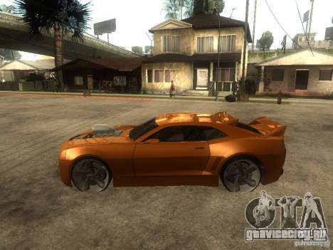 Chevrolet Camaro SS Dark Custom Tuning для GTA San Andreas вид слева